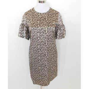 Banana Republic Silver Leopard Animal Print Dress
